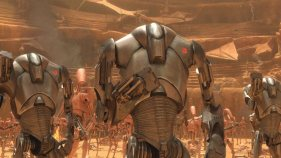 B2 Super Battle Droids had improved armor, built in blasters and missile launchers,